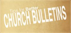 Tips For Better Church Bulletins | SeanAmster.com {kf}