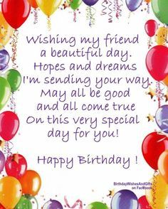 To my special friend happy birthday wishes card beautiful flowers wishing my friend a beautiful birthday bookmarktalkfo Image collections