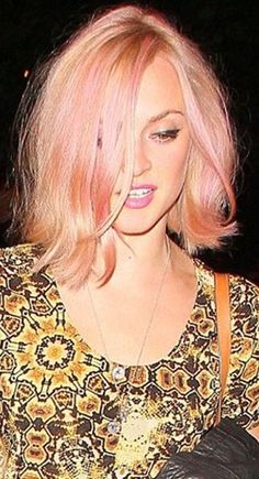 Primrose gold hair color for fall 2014. Embraces more pink and less gold.