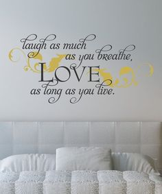 Black & Gold 'Laugh and Love' Wall Decal
