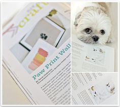 DIY Paw Print Wall Art | Pretty Fluffy in Modern Dog Magazine