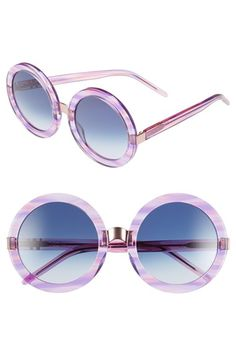 ee4ae9aad0 Wildfox  Malibu  56mm Round Sunglasses available at  Nordstrom Latest  Sunglasses