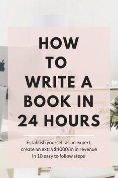 Do it today! Or tomorrow, how to write a book, get it published and be making another $1000/m in 24 hours or less, proven method that works!