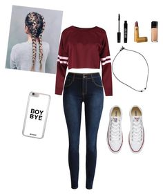 """""""Football game"""" by annalaine2 on Polyvore featuring Converse, Lord & Berry and Maybelline"""
