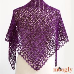 Fortune's Shawlette - FREE one skein crochet pattern on Mooglyblog.com! 07-10-15