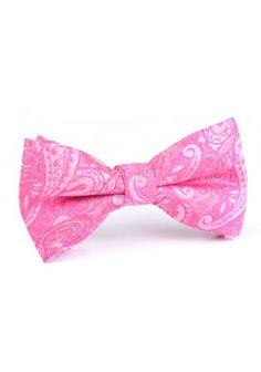 OTAA Paisley Pink Bow Tie