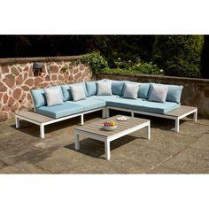 Beliani Aluminum Patio Lounge Set Messina 58698 | Conservatory ...