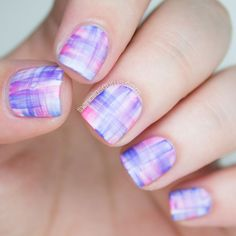 The Nailasaurus | UK Nail Art Blog: Snippet: Blinkple Streaky Watercolour  Barry M White Sally Hansen Pacific Blue Sally Hansen Pinch of Punch Nicole by OPI LeaPink for Joy Rimmel Barmy Blue