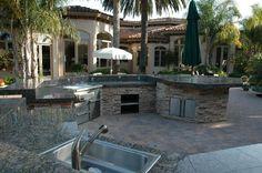 Outdoor Barbeque and Kitchen Landscape Design & Construction Gallery by AAA Landscape Specialists.
