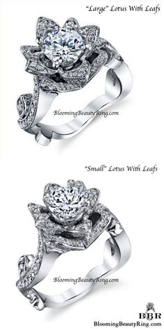 All Flower Engagement Rings Rose Wedding Rings, Small Wedding Rings, Platinum Wedding Rings, Beautiful Wedding Rings, White Gold Wedding Rings, Wedding Jewelry, Plain Gold Ring, 3 Stone Diamond Ring, Diamond Sizes