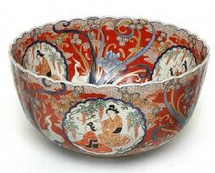 A large Japanese Imari porcelain bowl Meiji period 1868 - 1912,…