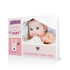 Geburtskarte Willkommen mit Wimpeln in Perle - Klappkarte flach #Geburt #Geburtskarten #Mädchen #Foto #kreativ #modern https://www.goldbek.de/geburt/geburtskarten/maedchen/geburtskarte-willkommen-mit-wimpeln?color=perle&design=20ea0&utm_campaign=autoproducts