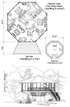 Pedestal Collection PD-0323 (900 sq. ft.) 2 Bedrooms, 2 Baths