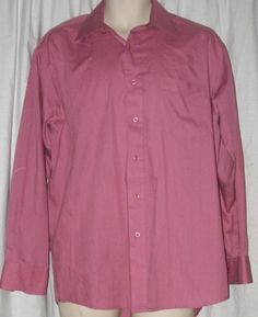 $16.99 John Weitz Rose Pink Dress Shirt 16 32/33