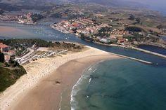 Las espectaculares playas de Cantabria Aerial View, Places To Travel, Beach, Water, Outdoor, Sun, World, Barcelona Spain, San Vicente