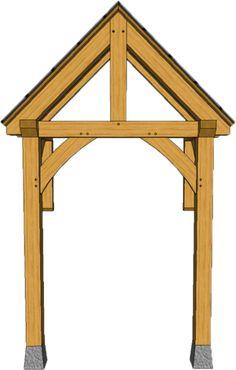 2 POST PORCHES — TIMBER FRAME PORCHES House Front Porch, Front Porch Design, Porch Roof, Front Deck, Awning Over Door, Front Door Canopy, Door Overhang, Patio Deck Designs, Carport Designs