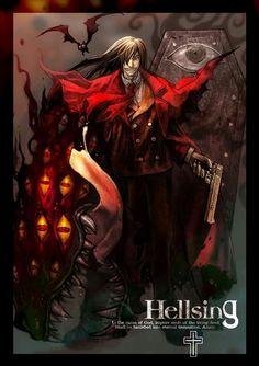 Wall Scroll Poster Fabric Painting for Anime Hellsing Alucard 015 Seras Victoria, Hellsing Alucard, Real Vampires, The Blues Brothers, Real Anime, Manga List, Fantasy Movies, True Art, Anime Comics