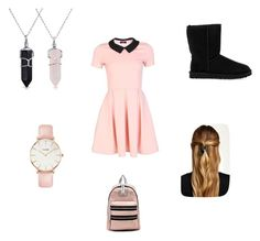 Classy school girl outfit by kaywisorbet on Polyvore featuring polyvore, fashion, style, UGG Australia, Marc by Marc Jacobs, CLUSE, Bling Jewelry and Natasha Accessories