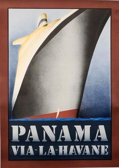 vintage French travel to Panama