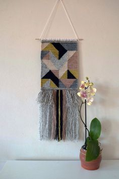 Bàn-dhearg Pink One Woven Wall Hanging by MonadhMor on Etsy