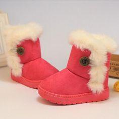 Kids Boots Winter Children Boots Thick Warm Shoes Cotton-Padded Suede Buckle Boys Girls Boots Boys Snow Boots Kids Shoes - Kid Shop Global - Kids & Baby Shop Online - baby & kids clothing, toys for baby & kid Winter Baby Boy, Winter Kids, 2016 Winter, Winter Snow, Kid Shoes, Girls Shoes, Women's Shoes, Baby Shoes, Boys Snow Boots