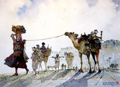 India - Road towards the Jaisalmer town