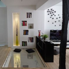 A hammock floor will allow you to create additional living space, with a contemporary design that will allow you to preserve natural light. Decor, Home Office Decor, Relaxation Room, Interior, Decorating Solutions, Hammock Netting, Bright Homes, Home Decor, Flooring