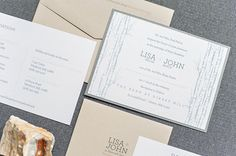 Rustic Wedding Invitation   Blush Pink Gray Silver by LamaWorks