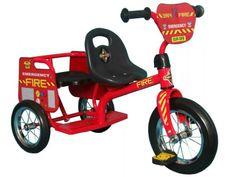 Eurotrike Kids Tandem Trike Fire Tricycle