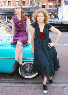 Karen Gillan and Alex Kingston