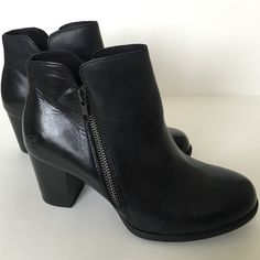 Born black leather ankle boots new! Brand new with tag and box. Born black leather ankle boots. Have some minor scuffing. Very minimal. Extremely well made! Born Shoes Ankle Boots & Booties