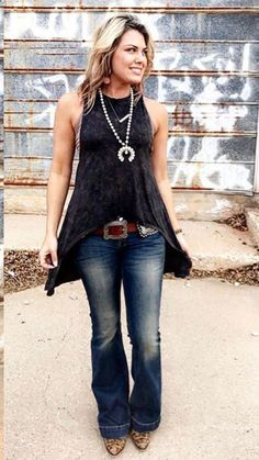 As you've probably seen, I like to be casual and comfortable. But this has a dressy aspect to it that I like, is why is chose this outfit. Country Girls Outfits, Cowgirl Outfits, Western Outfits, Western Wear, Cowgirl Fashion, Country Dresses, Cowgirl Clothing, Gypsy Cowgirl Style, Cowgirl Chic