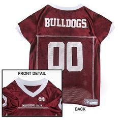 NCAA Mississippi State Bulldogs Athletic Mesh Dog Jersey