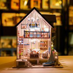 iiecreate 13018 The Gutf Of Venice DIY Dollhouse With Furniture Light Music Cover Miniature House