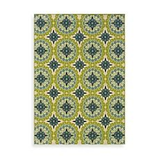 Oriental Weavers Caspian Green/Blue Medallion Indoor/Outdoor Rug