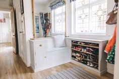 Bespoke storage built by a local carpenter | Entry - Image By Adam Crohill