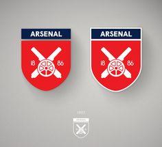 Redesigning The Arsenal Crest. Logo Arsenal, Arsenal Fc, Branding Design, Logo Design, Creative Art, Web Design, Design Ideas, Football, Logos