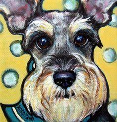 Schnauzer with Polkadots - Funny dog | Rebecca Korpita
