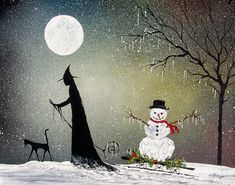 The Countdown Continues: Terri Ann Foss (Pt Retro Halloween, Halloween Kunst, Halloween Artwork, Halloween Signs, Halloween Christmas, Spooky Halloween, Winter Christmas, Happy Halloween, Halloween Decorations