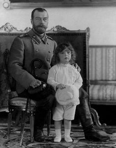 The Last Tsar of Russia, Nicholas ll with his son, Alexei in 1907.