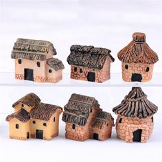 3 pc//lot Christams Tree House Mini Résine artisanat bricolage Home Decor miniature Fairy Ga