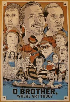 O Brother, Where Art Thou? - silkscreen art print (click image for more detail) Artist: Joshua Budich Venue: N/A Location: N/A Date: 2011 Edition: signed and numbered Size: x Condition: M Movie Posters For Sale, Movie Poster Art, Poster On, Poster Maker, Brothers Movie, Coen Brothers, Brother Where Art Thou, Posters, Poster