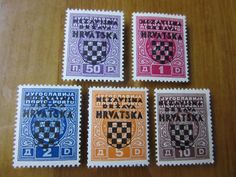 EBS Croatia Hrvatska NDH 1941 Postage Due overprints set Michel No 1-5 MH* in Stamps, Europe, Croatia   eBay!