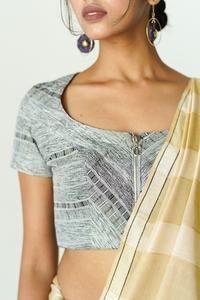 Urban Drape Yellow Reflections – Fashion Market.LK Dainty Earrings, Etsy Earrings, Brocade Lehenga, Metallic Blouses, Lehenga Online, Triangle Earrings, June Birth Stone, Wedding Hair Accessories, New Fashion