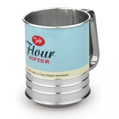 The Tala Flour Sifter ensures clumpy flour is turned into a light, even consistency. Press the trigger handle repeatedly and the spokes work against the fine meshed base to agitate and aearate the flour. Sifting The flou Sifted Flour, Baking Flour, Flour Canister, Wedding Gift List, Kitchen Tools And Gadgets, Baking Tools, Bakeware, Baking Ingredients, Kitchenware