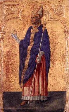 Matteo di Giovanni - San Nicola di Bari - 1455-1460 -   Tempera su tavola -  Lindenau-Museum, Altenburg