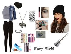 """Nacy Vivid"" by lillymarvel ❤ liked on Polyvore featuring Missguided, Phase 3, maurices, NARS Cosmetics, Vans, Lipsy and Topshop"