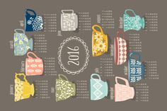 Teatime fabric by katherinelenius on Spoonflower - custom fabric