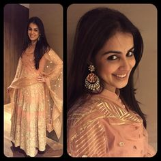 Genelia D'Souza in an Outfit by Rimple and Harpreet Narula