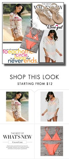"""rosegal.com  55"" by mana-man ❤ liked on Polyvore featuring Summer, love and polyvorefashion"